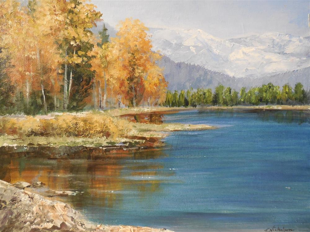 """Aspen Gold"" original fine art by Terri Nicholson"
