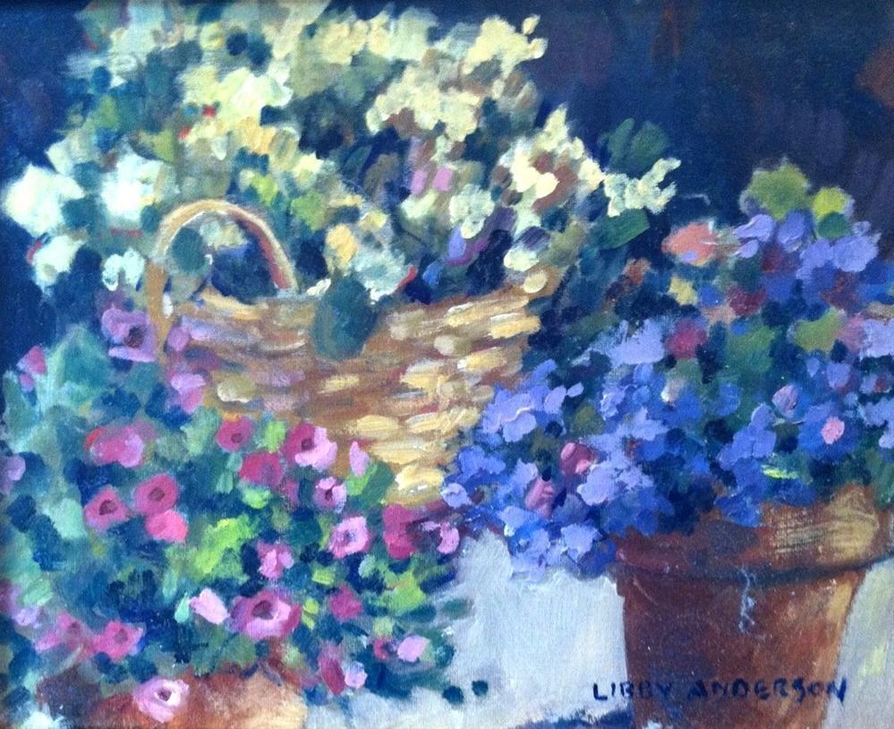 """""""garden pots"""" original fine art by Libby Anderson"""