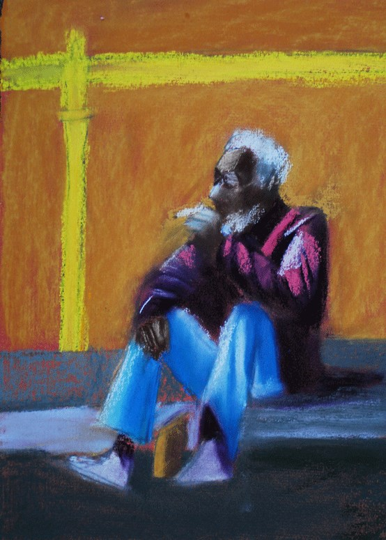 """Morning Medicine"" original fine art by Donna Crosby"