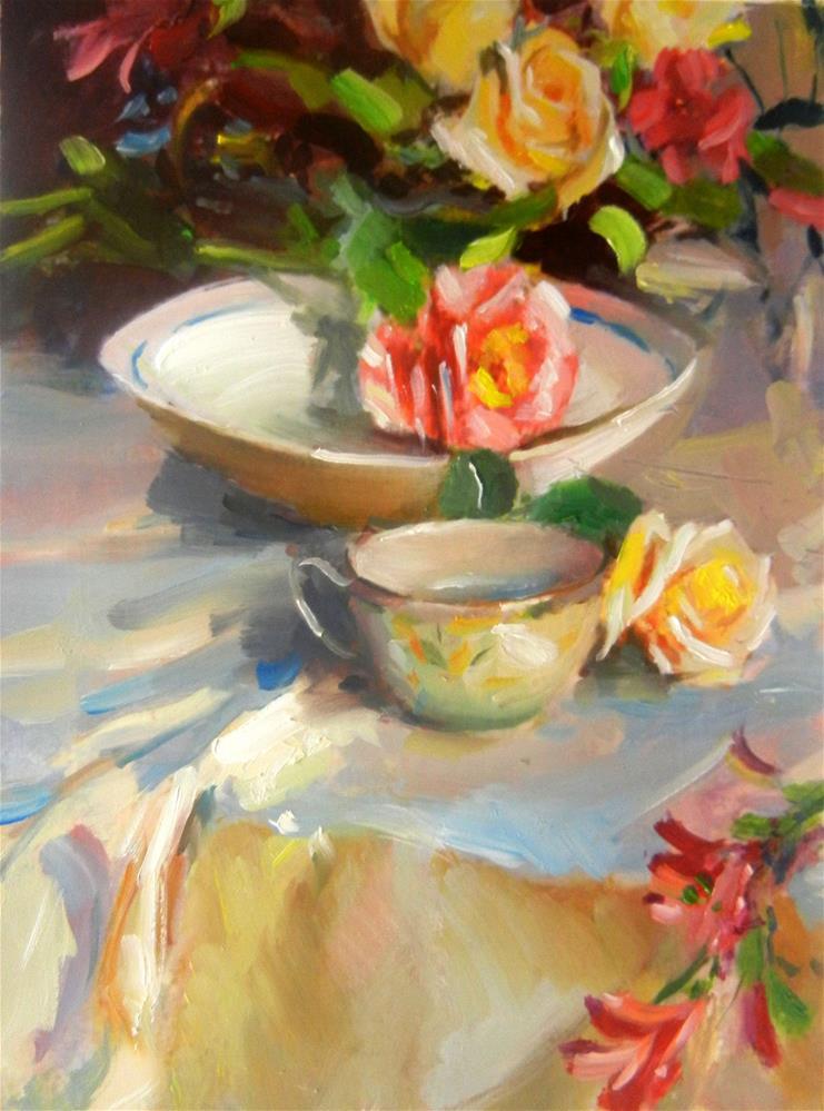 """Garden rose"" original fine art by Dragan Culjak"