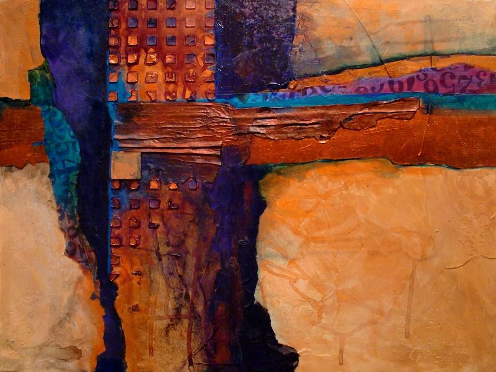 """TUCSON""  12054 mixed media desert abstract © Carol Nelson Fine Art original fine art by Carol Nelson"