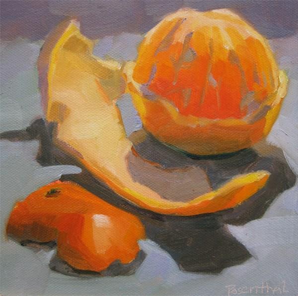 """Peeled Orange"" original fine art by Robin Rosenthal"