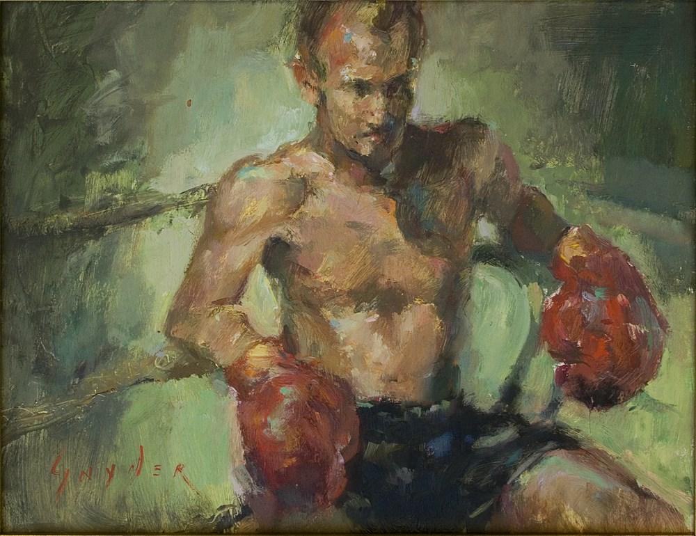 """""""Boxing Corner"""" original fine art by Julie Snyder"""