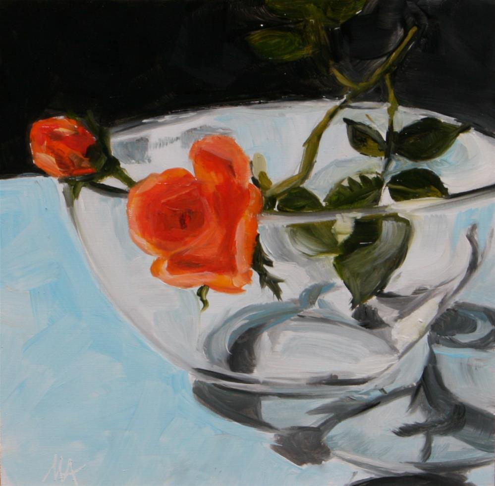 """Roses"" original fine art by Aniko Makay"