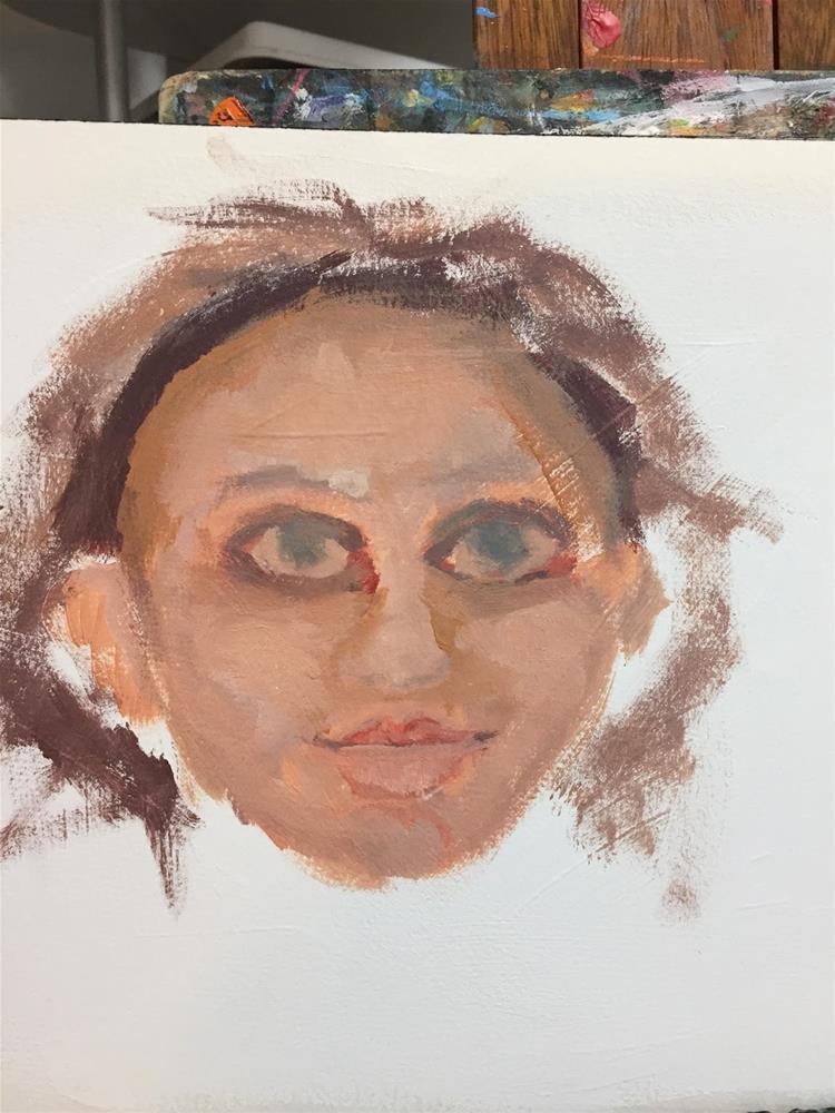 """""""Portrait Revisions"""" original fine art by Diane Campion"""