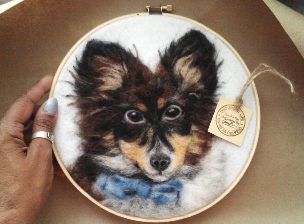 """Custom Doggy Portrait"" original fine art by Camille Morgan"