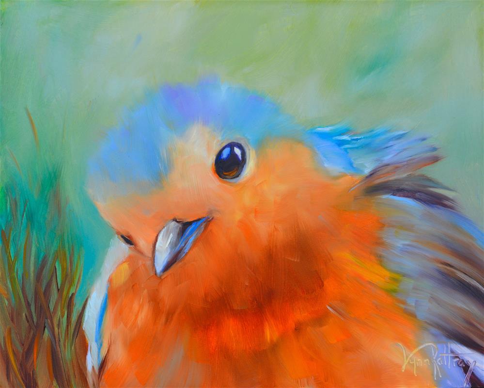 """""""Bella Blue"""" original fine art by Lynn Rattray"""