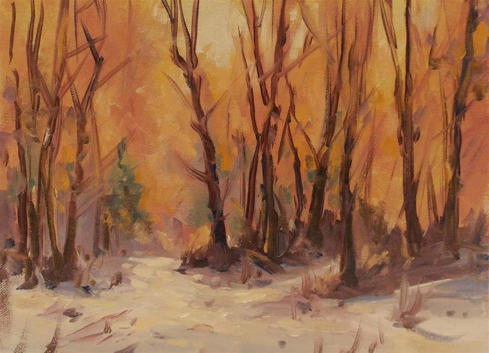 """ A WINTER GLOW "" original fine art by Doug Carter"