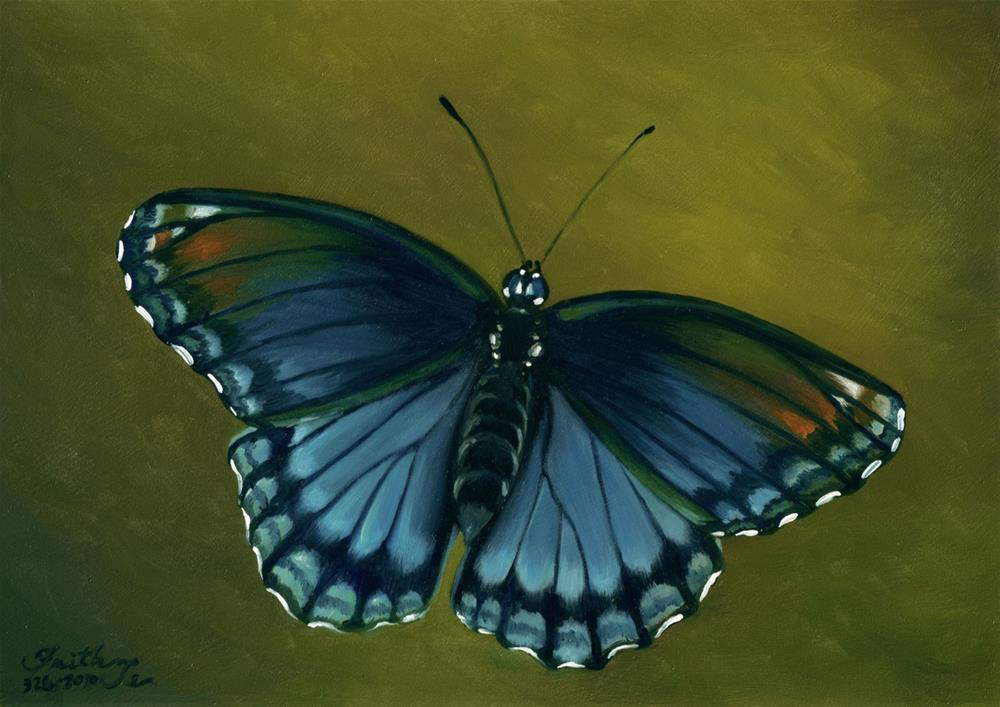 """Red-spotted Purple Butterfly"" original fine art by Faith Te"
