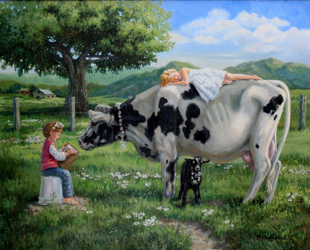 """Cow Girls"" original fine art by Joy Campbell"