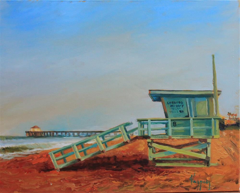 """Lifeguard off-duty"" original fine art by Marco Vazquez"