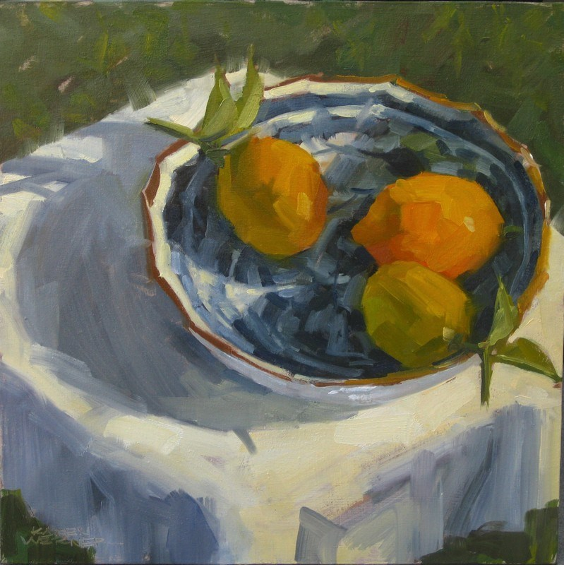 """Afternoon Lemons"" original fine art by Karen Werner"