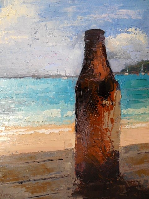 """Bottle Still Life 