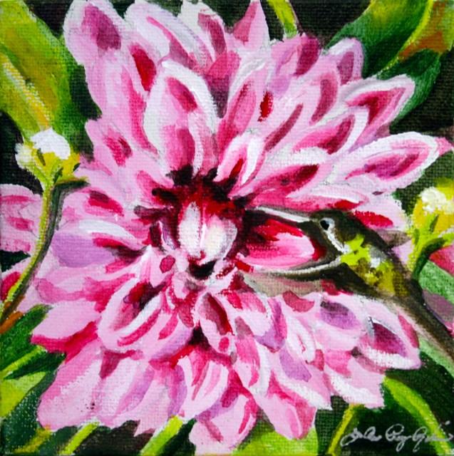 """Valentine Dahlia"" original fine art by JoAnne Perez Robinson"