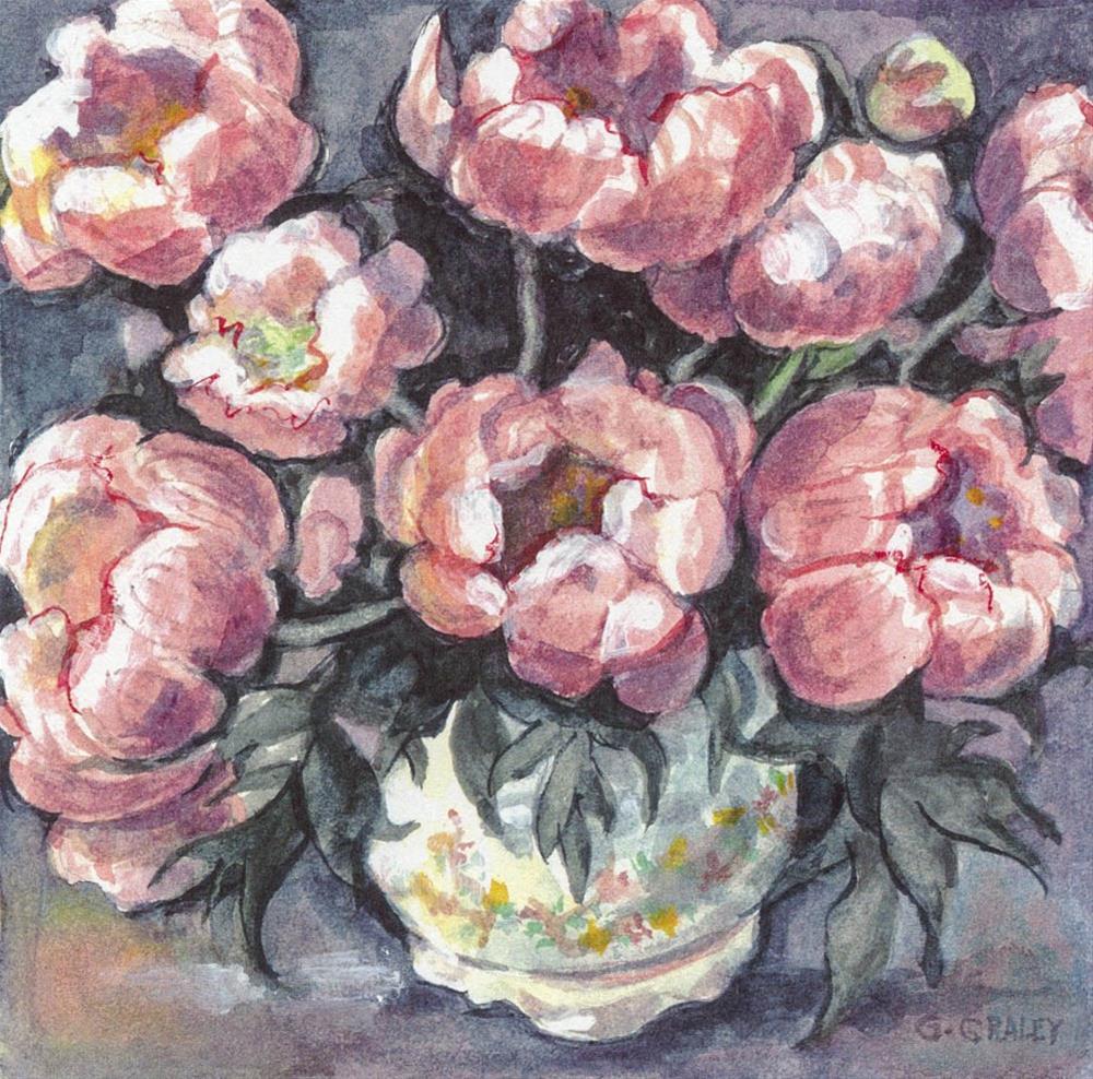 """""""Peonies"""" original fine art by Geri Graley"""