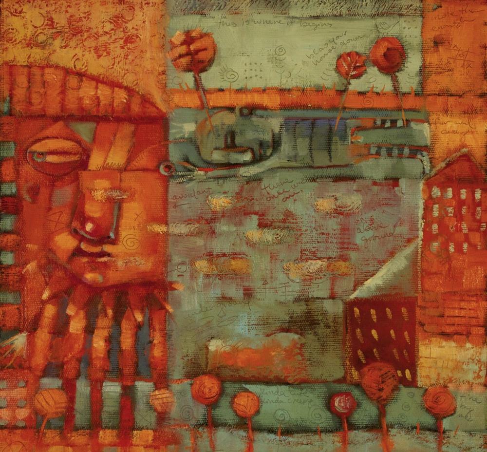 """Urbanites And Native-ites"" original fine art by Brenda York"
