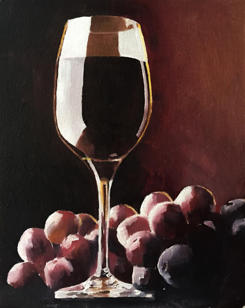 """Red Wine Still Life"" original fine art by James Coates"