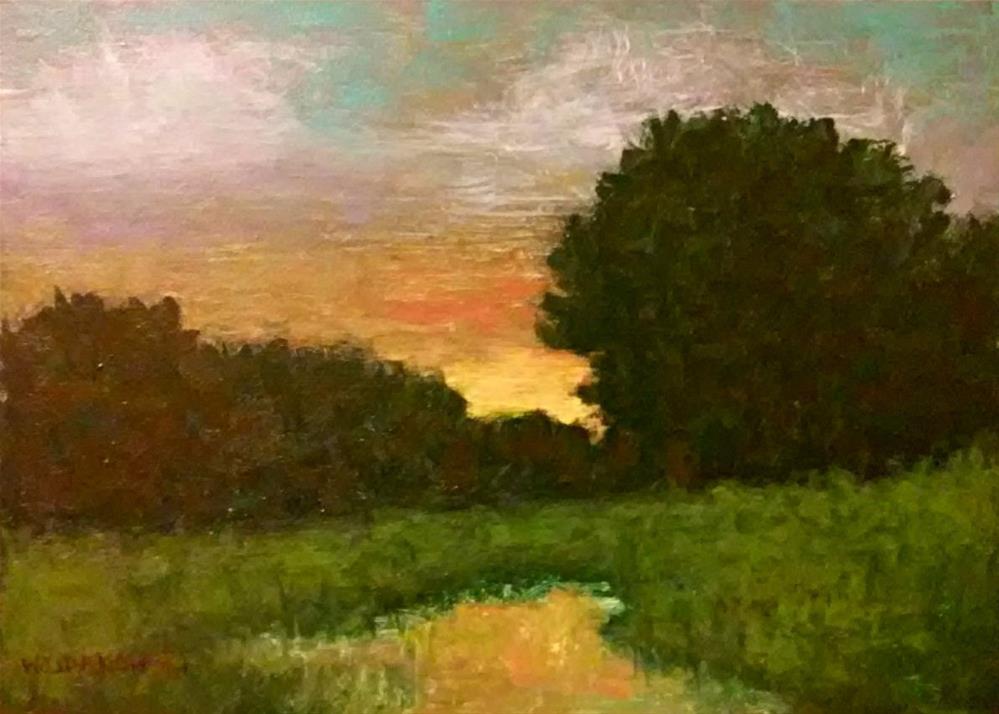 """Evening green"" original fine art by Joe Wojdakowski"