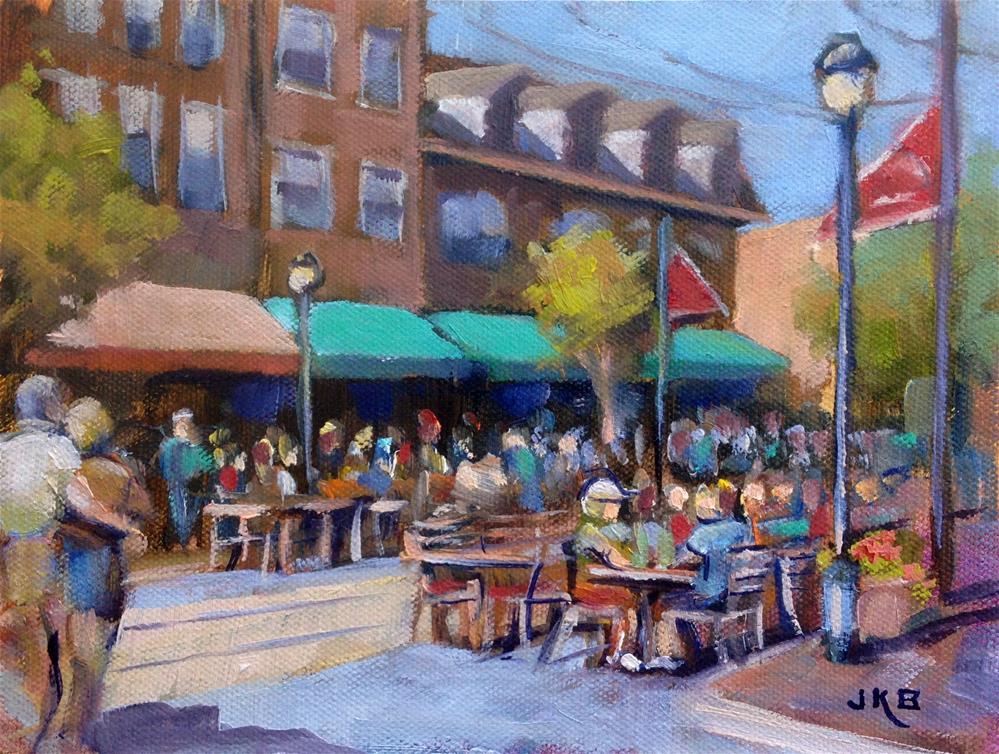 """Dining Under the Stars, June 2016"" original fine art by Jeanne Bruneau"