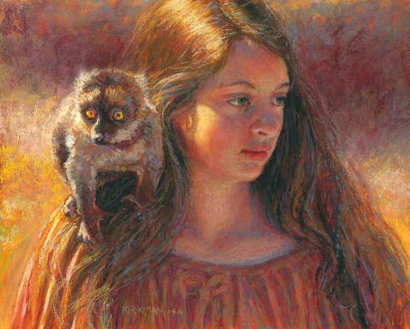"""Familiar - accepted into CPS Exhibit"" original fine art by Rita Kirkman"
