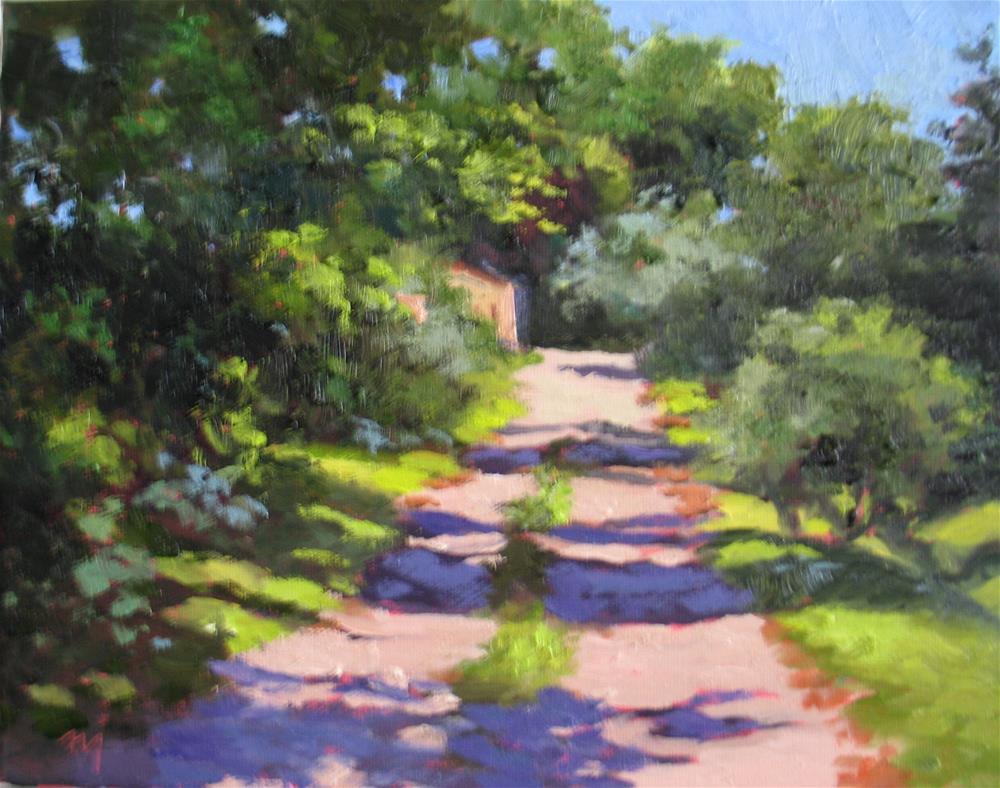 """Sunlit Back Alley"" original fine art by Nel Jansen"