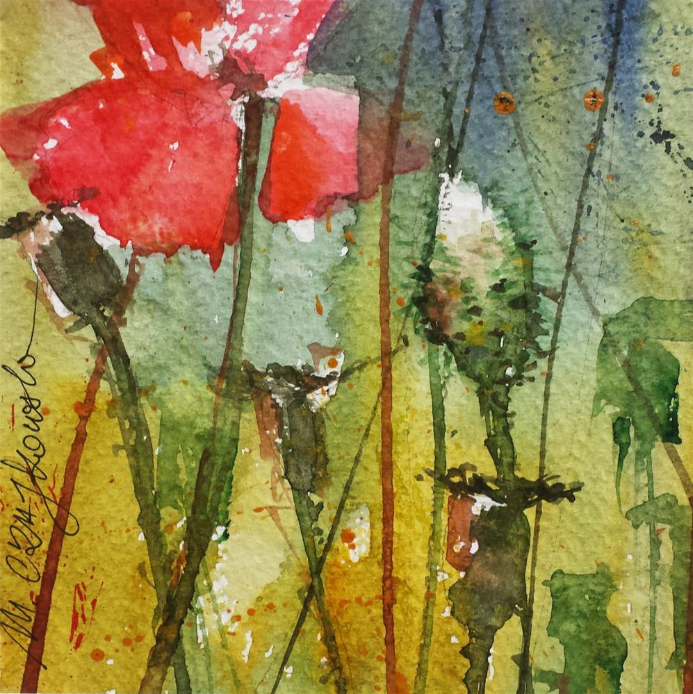"""Poppies 2"" original fine art by Marlena Czajkowska"