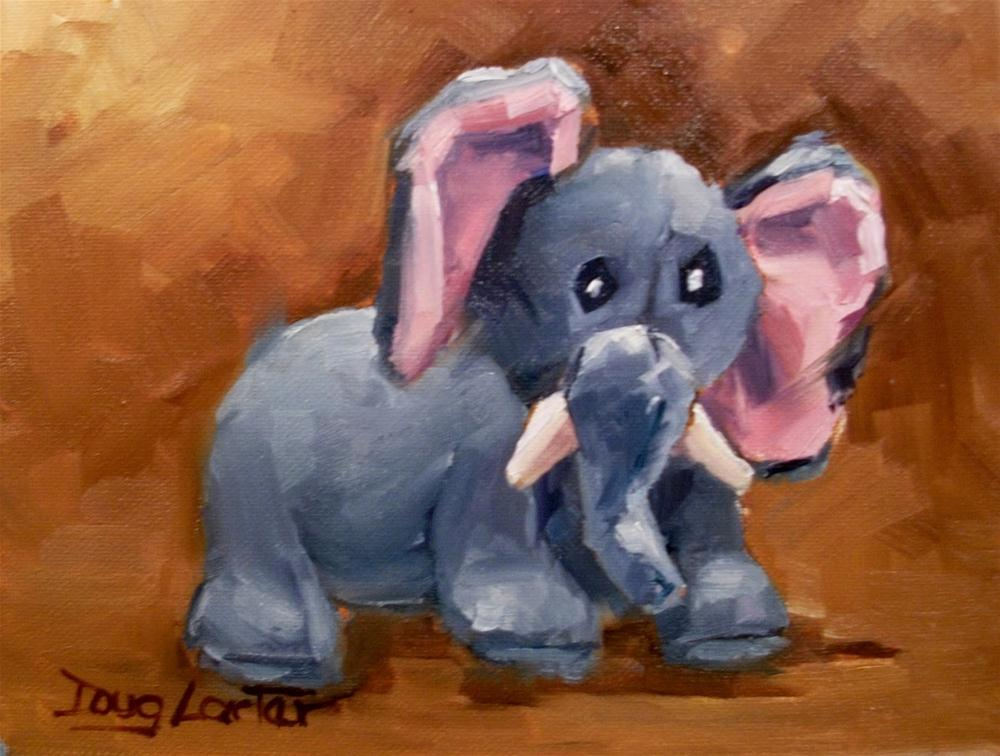 """' Baby Elephants in Heaven"" original fine art by Doug Carter"