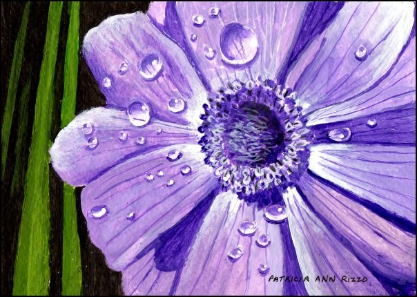 """Purple Anemone"" original fine art by Patricia Ann Rizzo"