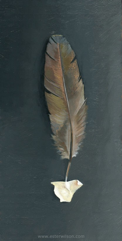 """Feather"" original fine art by Ester Wilson"