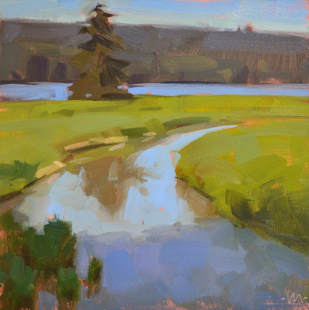 """Creek Meets River"" original fine art by Carol Marine"