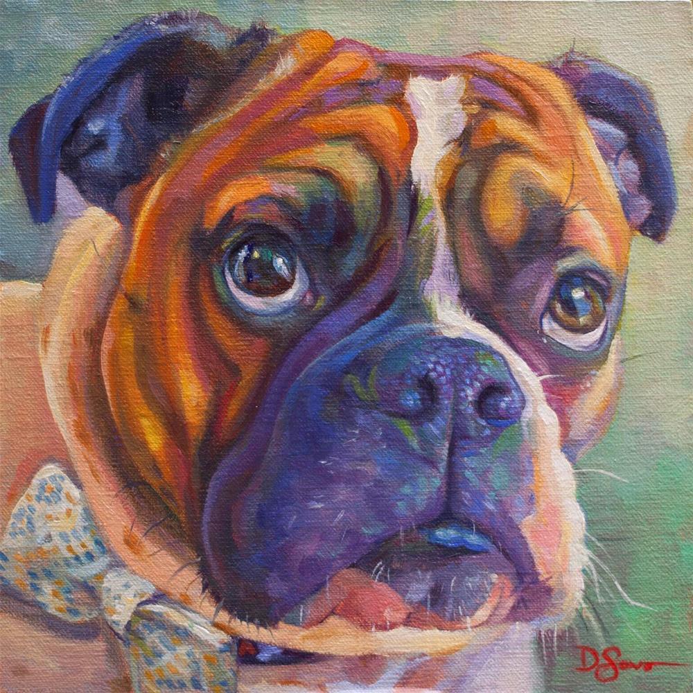 """Chutley"" original fine art by Deborah Savo"