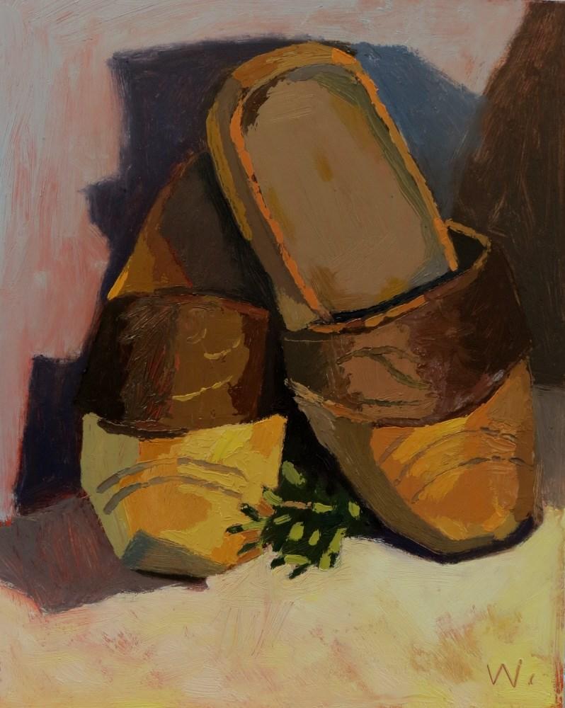 """Wooden Shoes"" original fine art by Joan Wiberg"