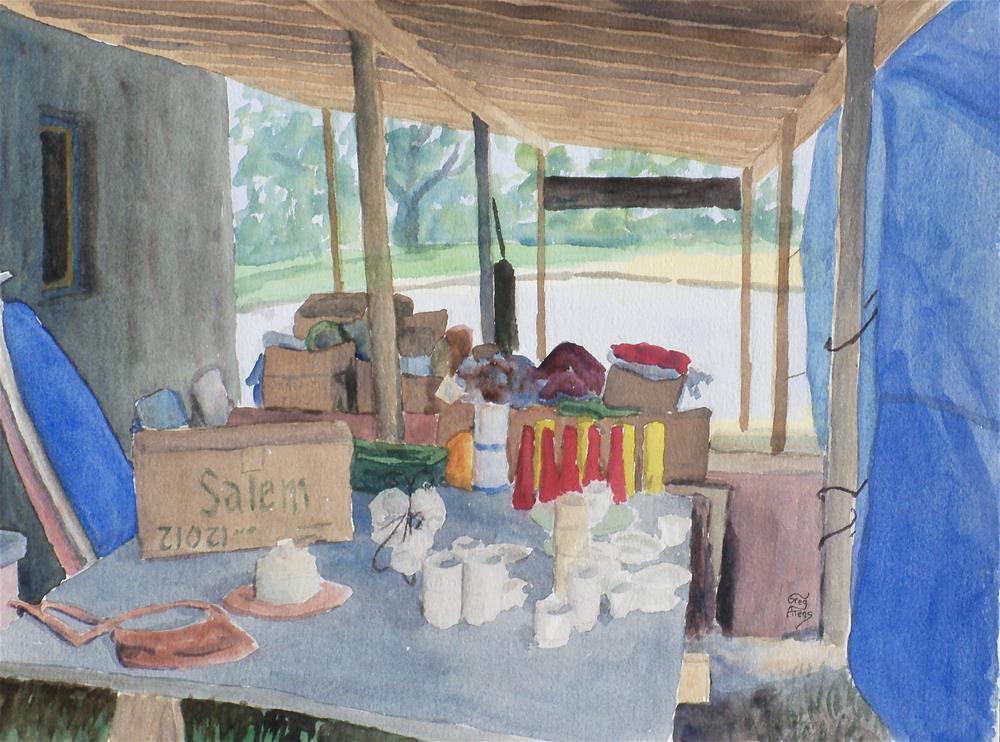 """Flea Market Set-Up"" original fine art by Greg Arens"
