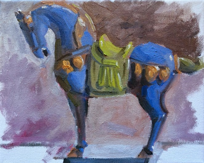"""Chinese Horse"" original fine art by Deborah Newman"