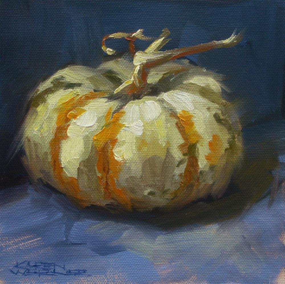 """""""White Pumpkin"""" original fine art by Karen Werner"""