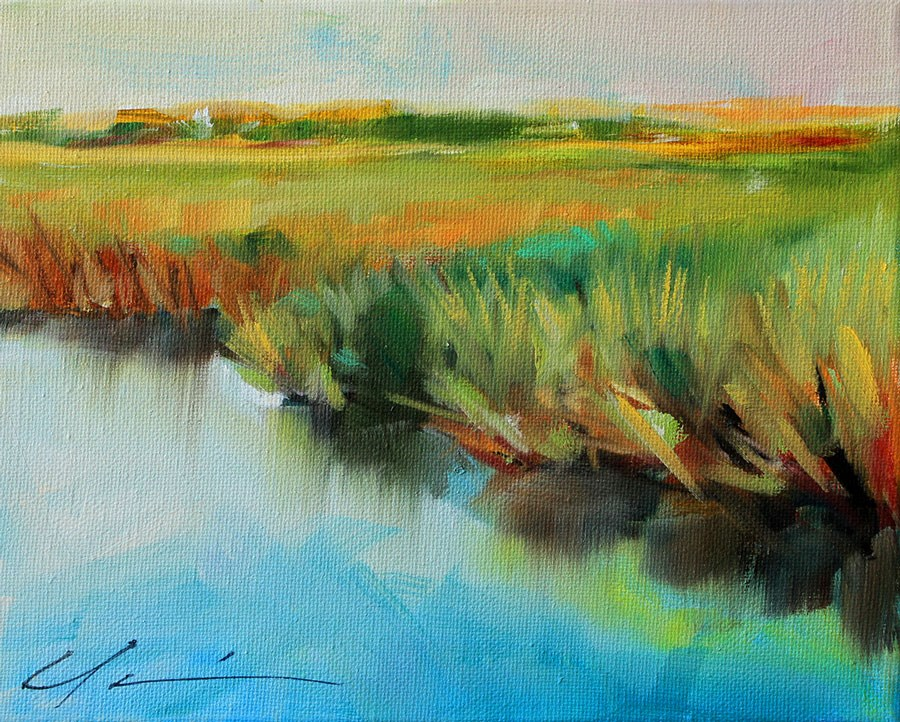 """Coastal Marsh"" original fine art by Clair Hartmann"