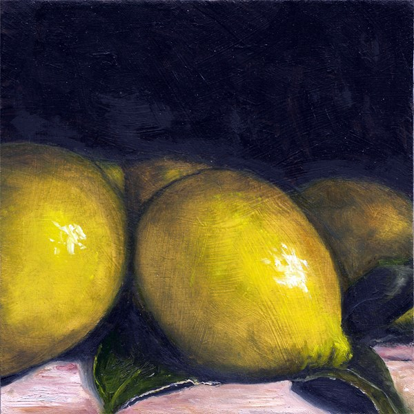 """Lemon huddle"" original fine art by Peter J Sandford"