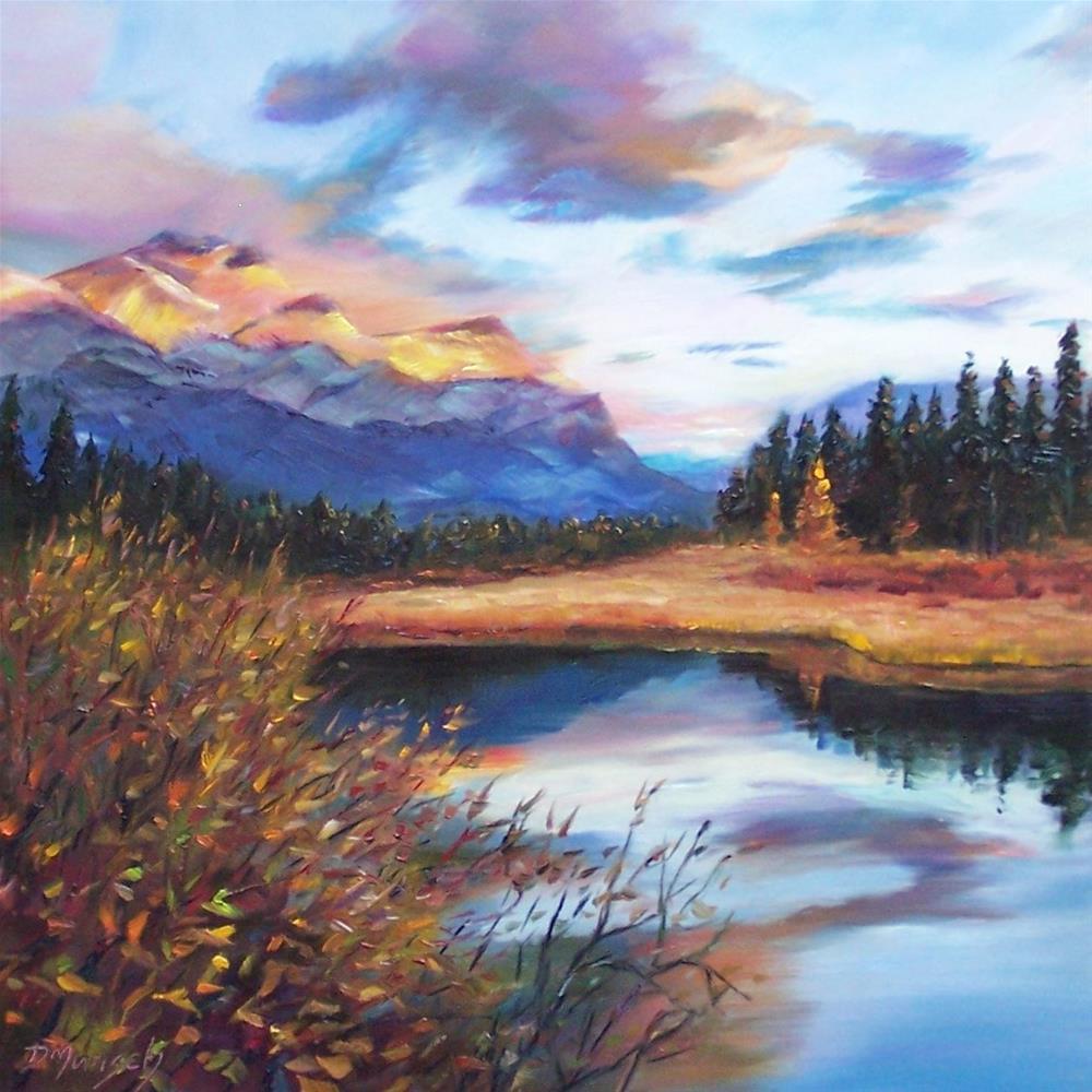 """""""Evening Light"""" original fine art by Donna Munsch"""