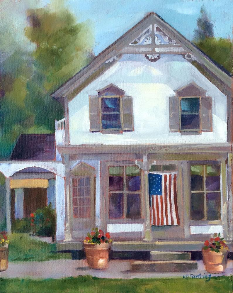 """Stars and Stripes"" original fine art by Kathleen Gray Farthing"