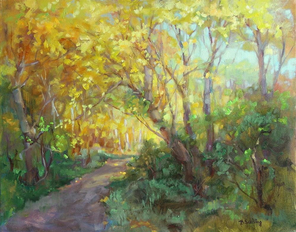 """Autumn's Glow"" original fine art by Barbara Schilling"