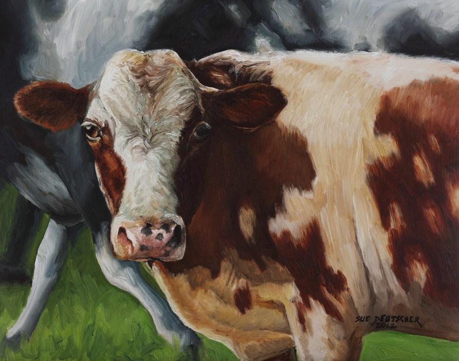 """Young Jersey Bull"" original fine art by Sue Deutscher"