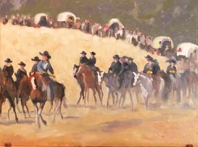 """Trail Ride #3"" original fine art by Judy Elias"