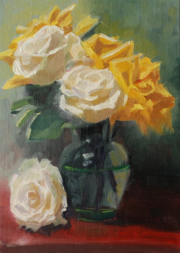 """No. 697 Perrin Rose #6"" original fine art by Susan McManamen"