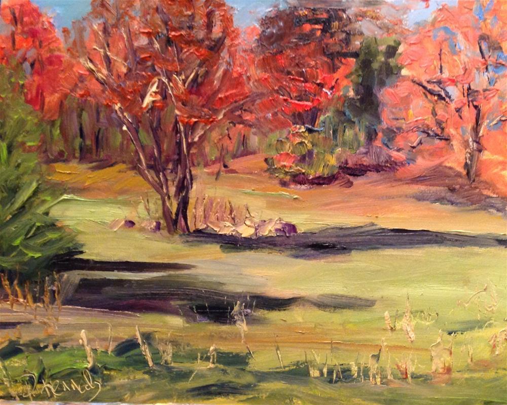 """Season's End Plein Air"" original fine art by Debra Kennedy"
