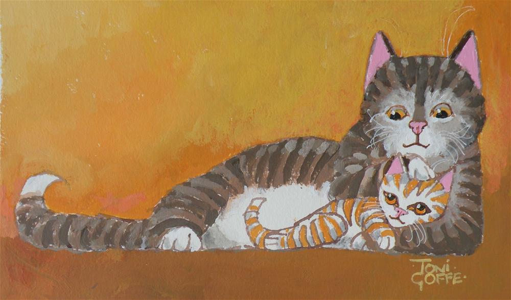 """""""Protecting You"""" original fine art by Toni Goffe"""