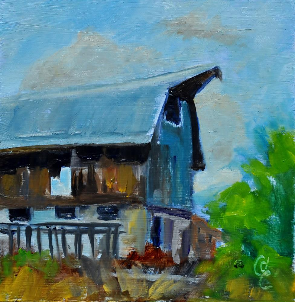 """Franklin Old Barn Challenge"" original fine art by Catherine Crookston"