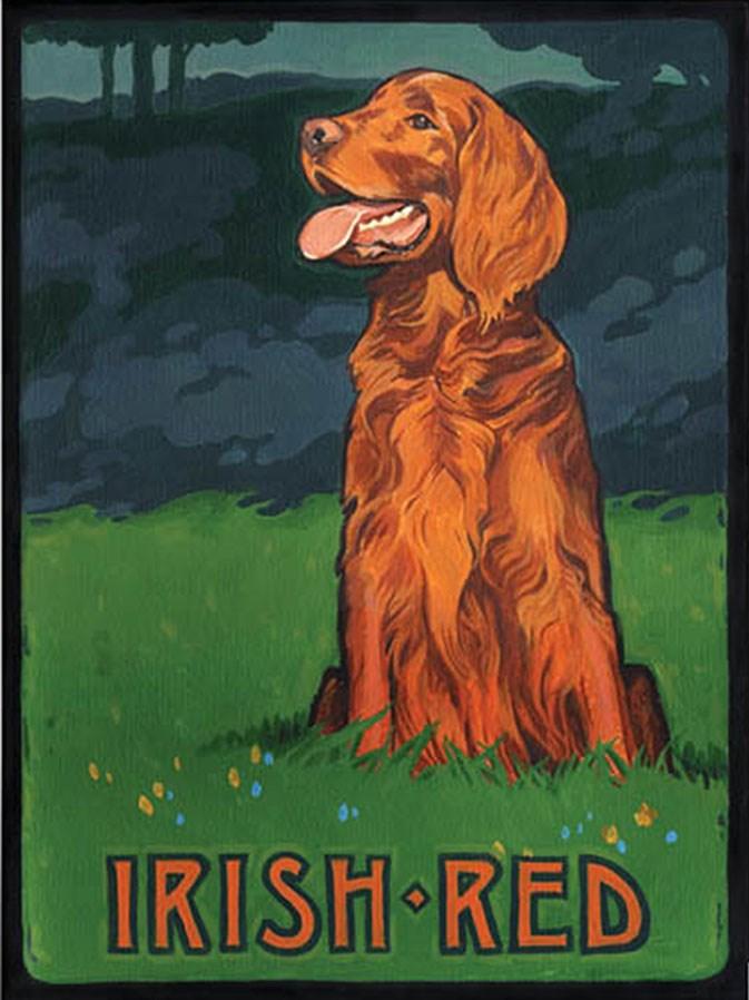"""Irish Red"" original fine art by Shawn Shea"