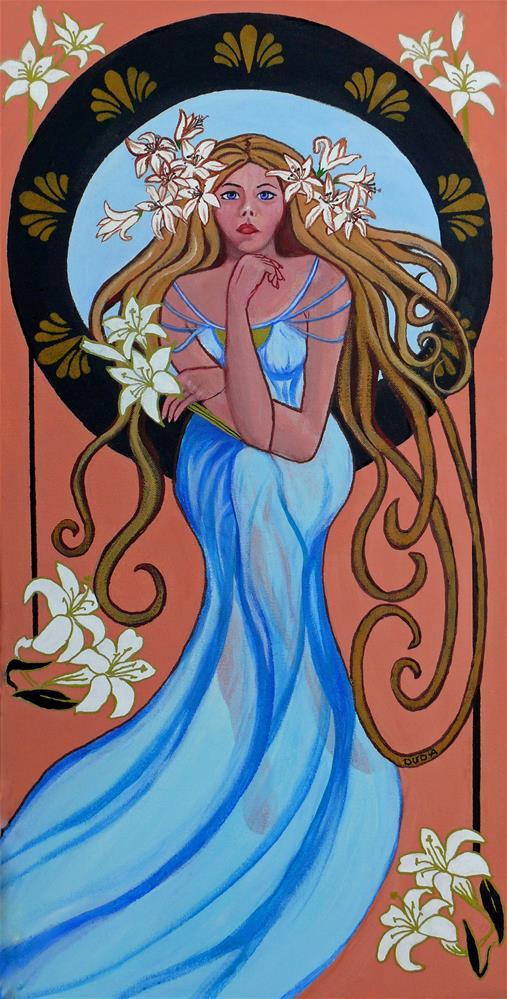 """Lady Lily"" original fine art by Susan Duda"