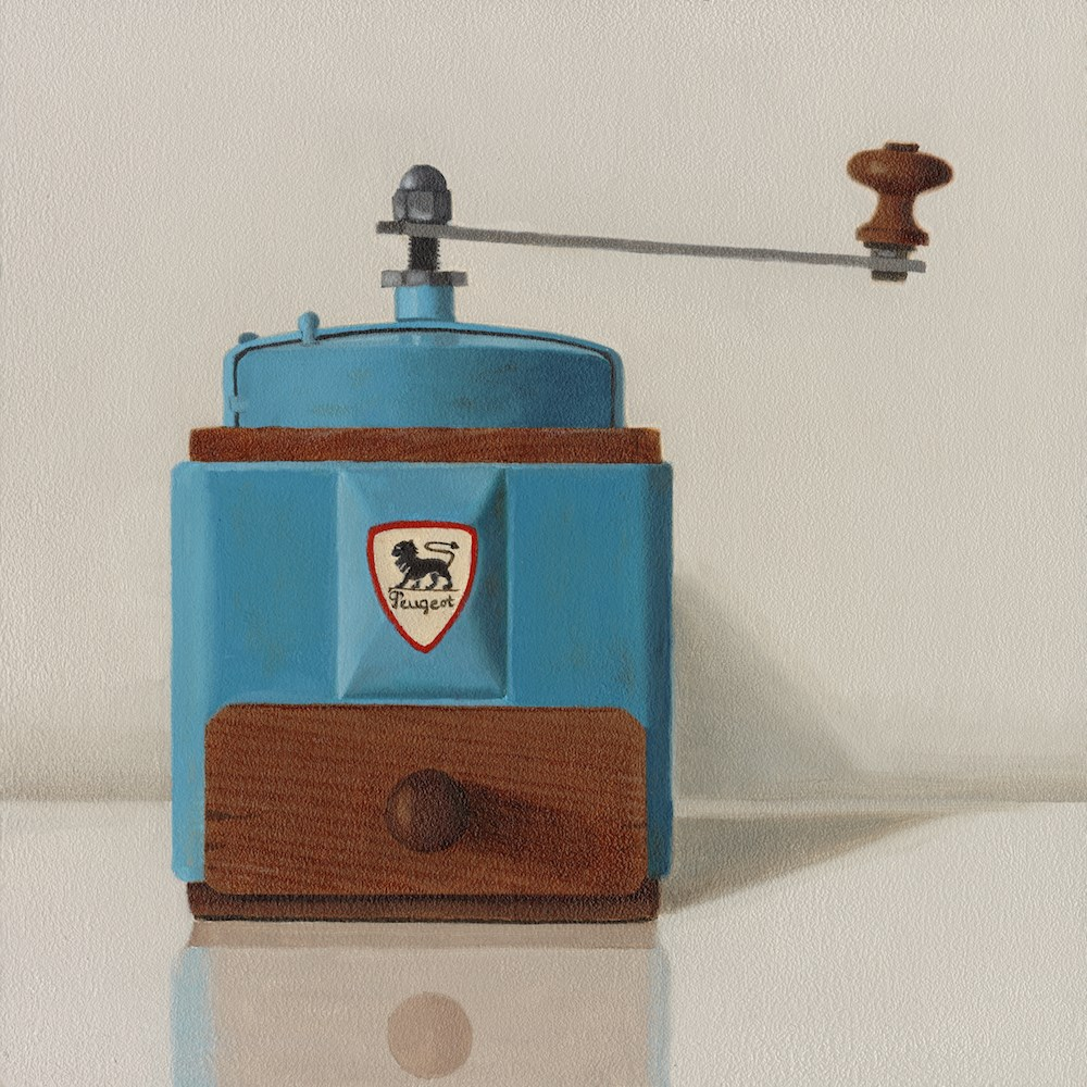 """Peugeot Coffee Grinder"" original fine art by Susan Fern"