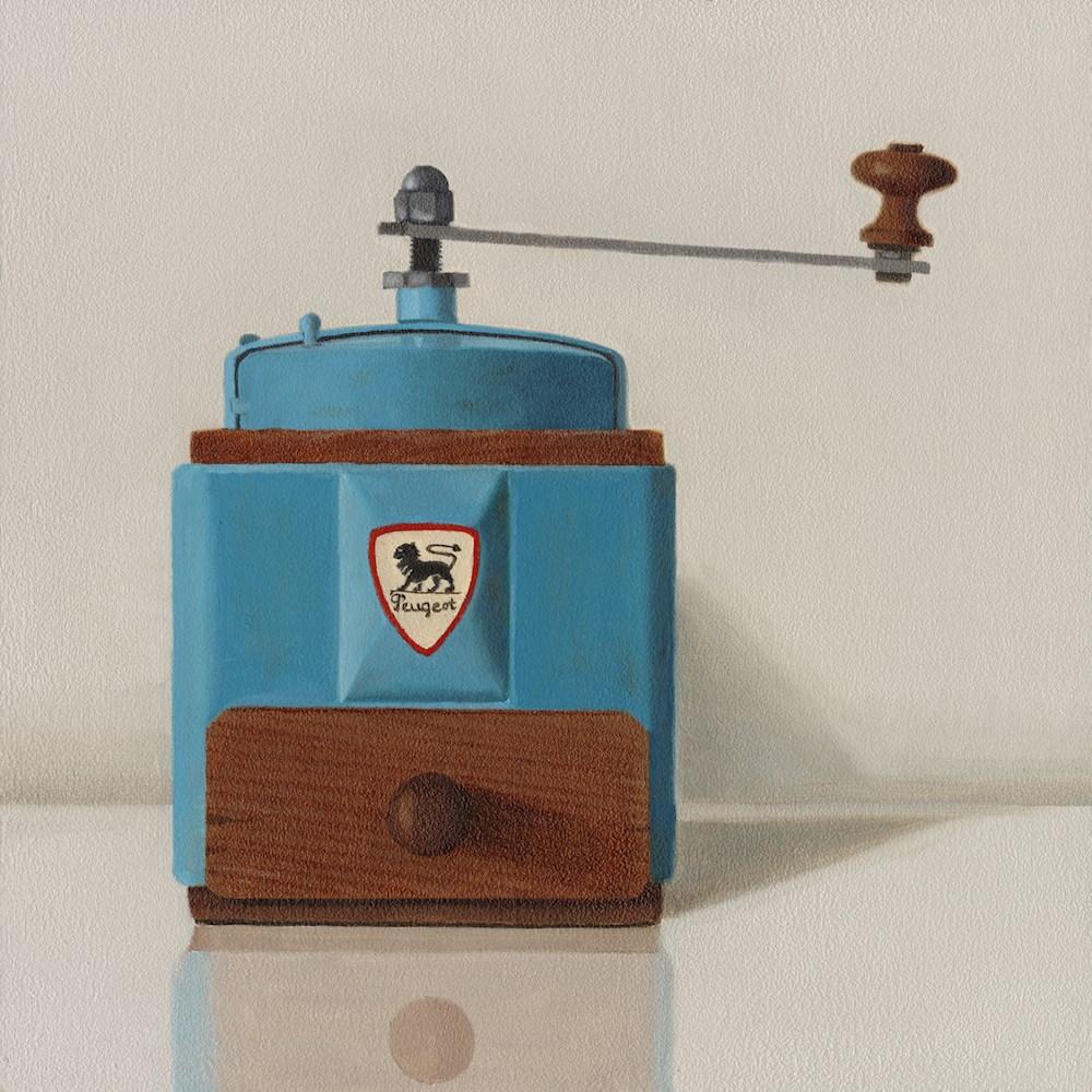 """Peugeot Coffee Grinder"" original fine art by Susan Fern"